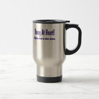 Funny Young At Heart T-shirts Gifts Mug