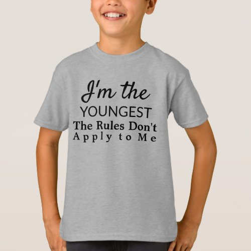 Funny Youngest Child Rules Sibling T_Shirt