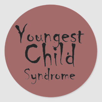 Funny Youngest Child Syndrome stickers