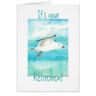 Funny Your Retirement  Seagull- Bird Card