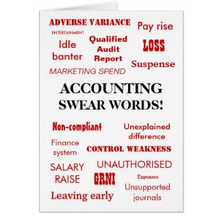 Funny Zany Accounting Joke Swear Words Card