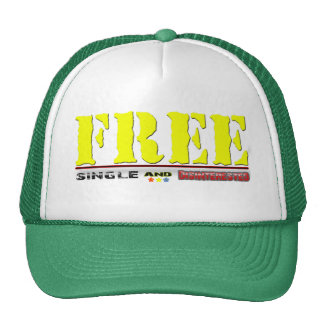 Funny zazzle free, single and disinterested cap trucker hat