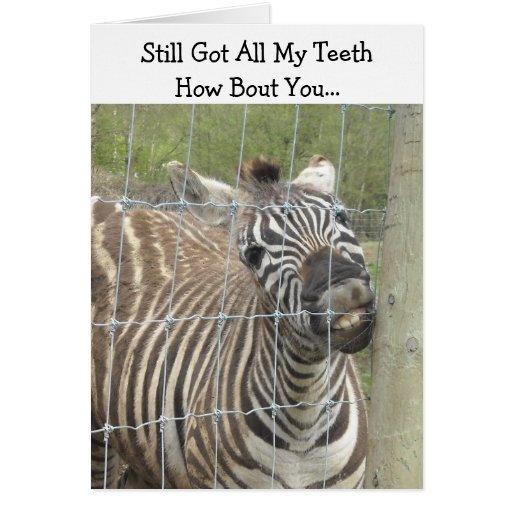 Funny Zebra Birthday Greeting Card