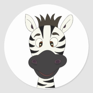 Funny zebra cartoon kids stickers