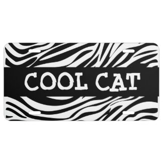 Funny Zebra Cool Car Tags License Plate
