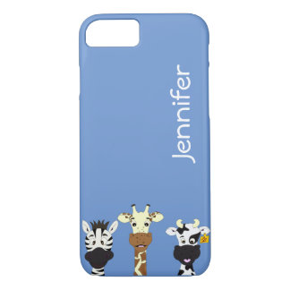 Funny zebra giraffe cow cartoon kids iphone case
