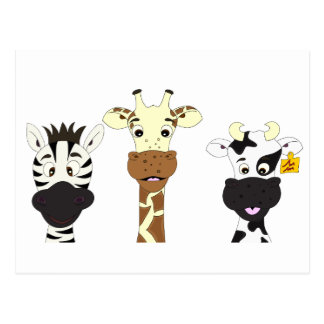 funny cow cartoons postcards zazzle