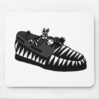 Funny Zebra in a Shoe Art Mouse Pad