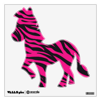 Funny Zebra Jungle Animals Removable Wall Decals