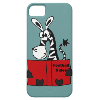Funny Zebra Reading Football Rules Book iPhone SE/5/5s Case