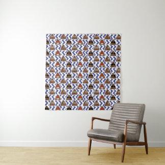 Funny Zig Zag Poop Emojis Wall Tapestry