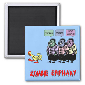 Funny zombie 2 inch square magnet