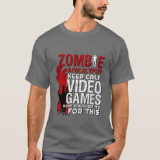 Funny Zombie Apocalypse Grunge Tshirt For Gamers at Zazzle