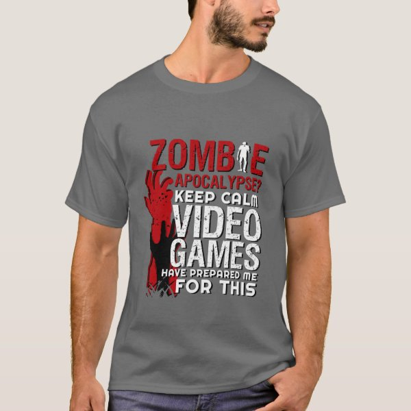 Funny Zombie Apocalypse Grunge Tshirt for Gamers