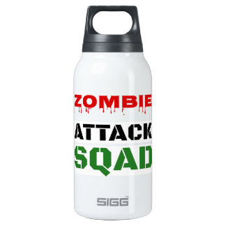 Funny Zombie Attack Squad 10 Oz Insulated SIGG Thermos Water Bottle