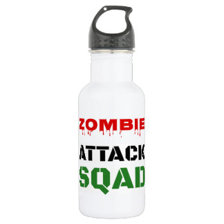Funny Zombie Attack Squad 18oz Water Bottle
