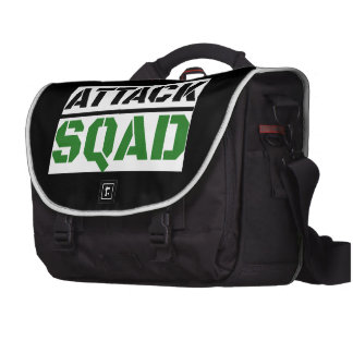 Funny Zombie Attack Squad Laptop Messenger Bag