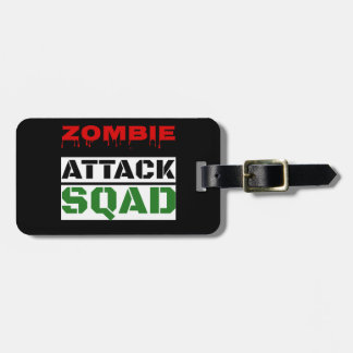 Funny Zombie Attack Squad Tags For Bags