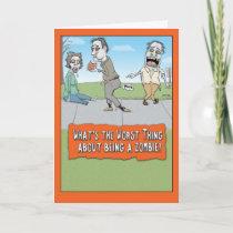 Funny Zombie Brain Farts Halloween Card