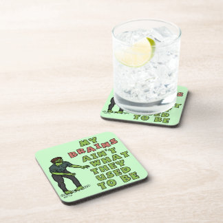 Funny Zombie Brains Old Age Coaster