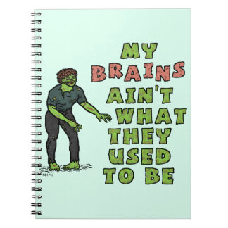 Funny Zombie Brains Old Age Note Books