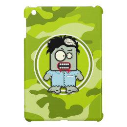 Funny Zombie; bright green camo, camouflage iPad Mini Cover