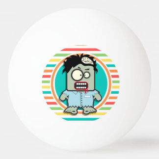 Funny Zombie, Bright Rainbow Stripes Ping-Pong Ball