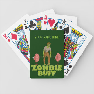 Funny Zombie Buff Weight Lifter Bicycle Playing Cards