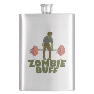 Funny Zombie Buff Weight Lifter Flask
