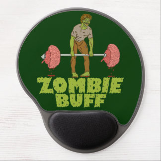 Funny Zombie Buff Weight Lifter Gel Mouse Pad