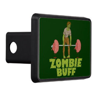 Funny Zombie Buff Weight Lifter Hitch Cover