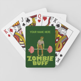 Funny Zombie Buff Weight Lifter Poker Deck