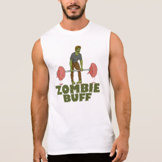 Funny Zombie Buff Weightlifter Sleeveless Shirt