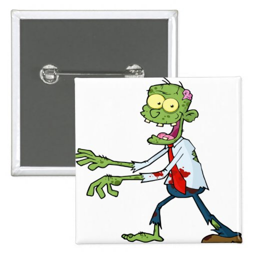 Funny Zombie Pinback Button