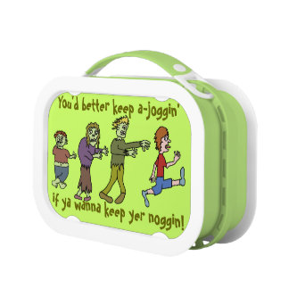 Funny Zombie Cartoon Doodle Lunch Box
