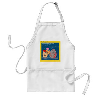 Funny Zombie changing lightbulb cartoon gifts Adult Apron