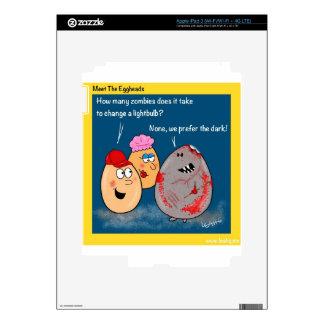 Funny Zombie changing lightbulb cartoon gifts iPad 3 Skin