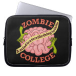 Funny Zombie College Logo Computer Sleeve