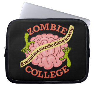 Funny Zombie College Logo Laptop Sleeves