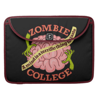Funny Zombie College Logo Sleeve For MacBook Pro