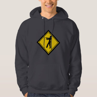Funny Zombie Crossing Sign Hoodie