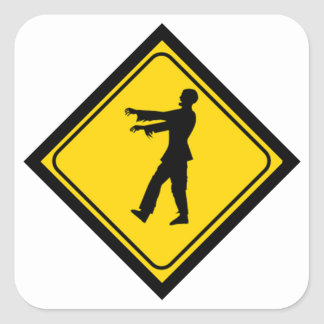 Funny Zombie Crossing Sign Stickers