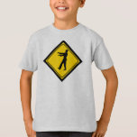 Funny Zombie Crossing Sign T-Shirt