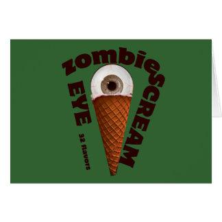 "Funny Zombie Eats ""Eye Screams"" Card"