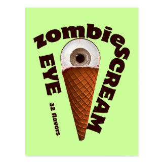 "Funny Zombie Eats ""Eye Screams"" Postcard"