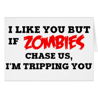 Funny Zombie Greeting Card