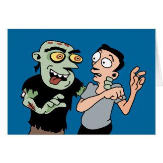 Funny Zombie Halloween Card
