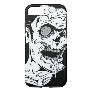 Funny Zombie Horror Face - Cool and Unique iPhone 8/7 Case