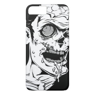 Funny Zombie Horror Face - Cool and Unique iPhone 8 Plus/7 Plus Case