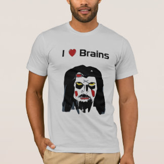 Funny Zombie I ❤️ Brains Halloween Party T-Shirt